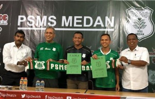 Rachmad Hidayat dan Abdul Rohim Resmi Balik ke PSMS Medan