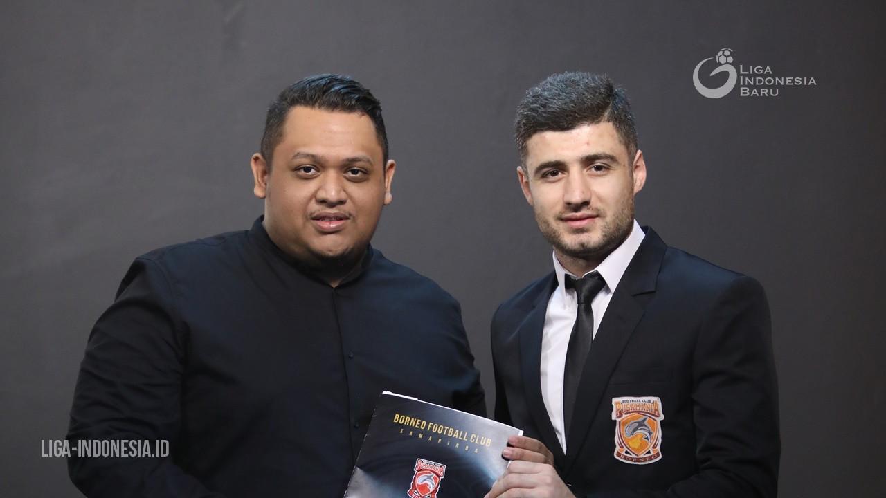 Borneo FC Gaet Gelandang Timnas Tajikistan