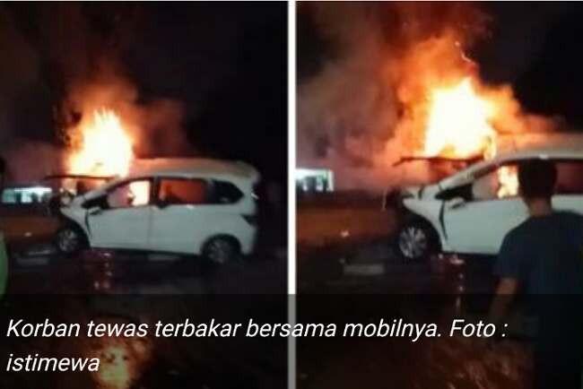 Usai Menabrak Pohon, Pengemudi Honda Freed Tewas Terbakar dalam Mobil - JPNN.com
