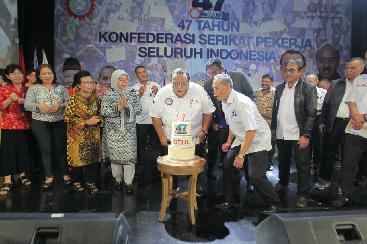 KSPSI Rayakan HUT Ke-47, Andi Gani: Kami Loyalis Presiden Jokowi, Tetapi.. - JPNN.com