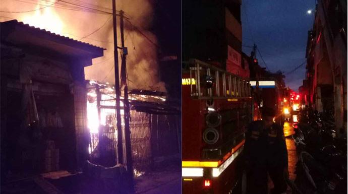 Pedagang di Pasar Bogor Panik, Ruko Sembako Terbakar - JPNN.com