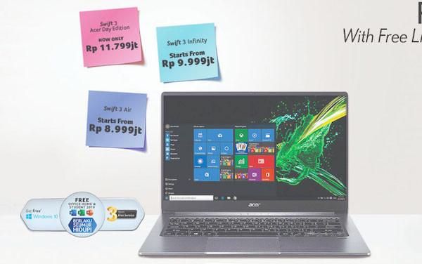Acer Hadirkan Productivity Package untuk Pembelian Laptop Swift 3 - JPNN.com