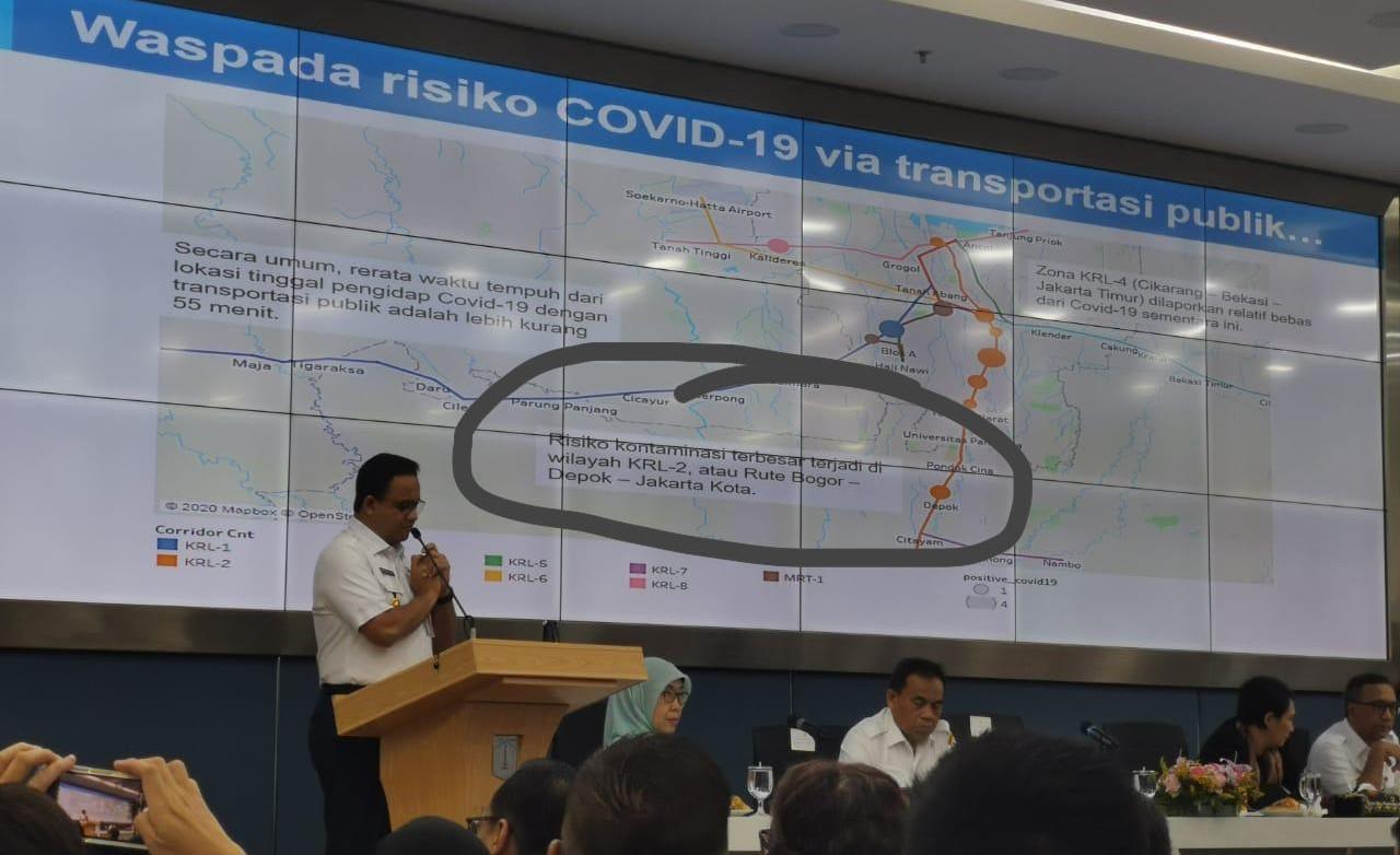 Anies Jelaskan Foto Viral yang Menyebut KRL Bogor-Jakarta Berisiko Penularan Corona - JPNN.com