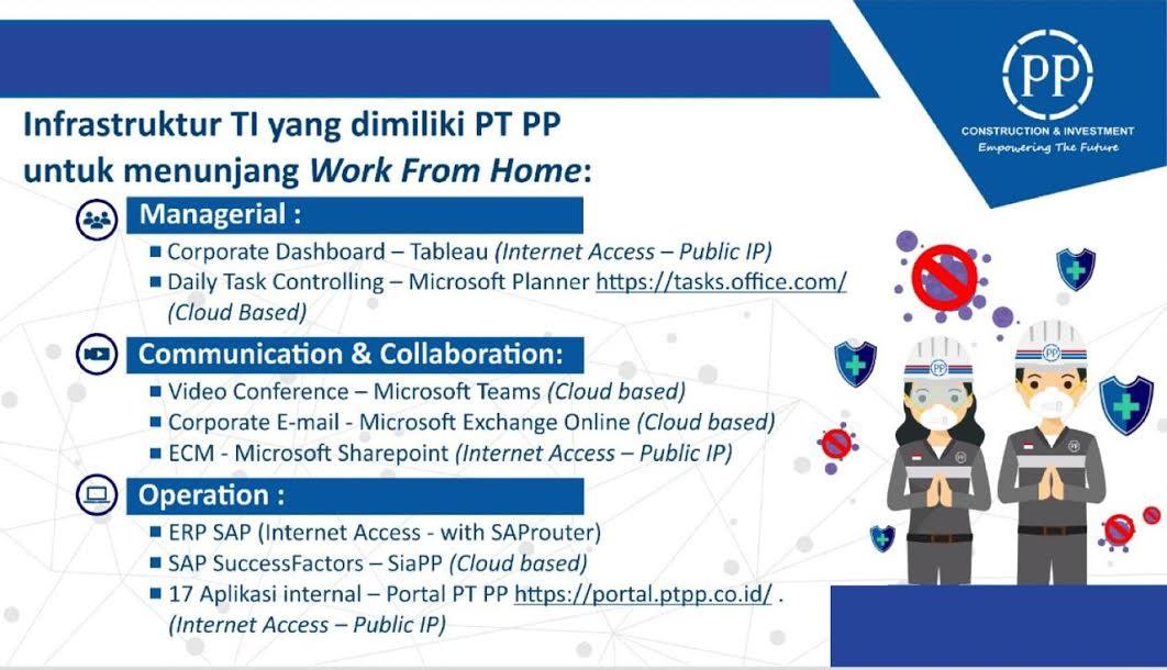 Dukung Penerapan Social Distancing, PT PP Berlakukan Partial Work From Home - JPNN.com