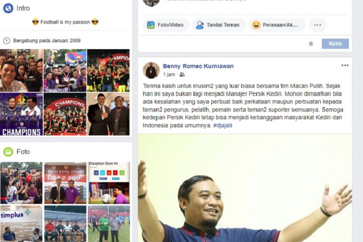 Manajer Persik Kediri Beny Kurniawan Mendadak Mengundurkan Diri - JPNN.com