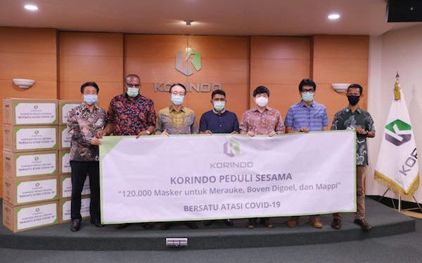 Perangi COVID-19, Korindo Group Kirim 120 Ribu Masker ke Papua - JPNN.com