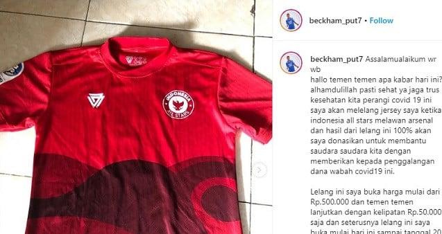 Beckham Putra Nugraha Lelang Jersey Indonesia All-Stars Kontra Arsenal - JPNN.com