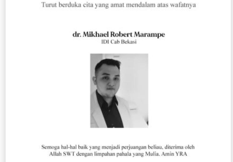Berita Duka: Dokter Michael Robert Marampe Meninggal Dunia, Batal Menikah - JPNN.com