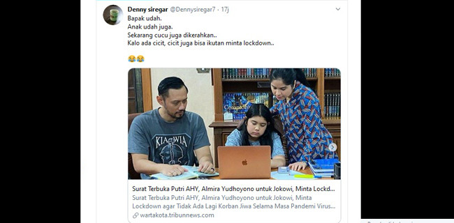 Ogah Hapus Twit, Denny Siregar Tantang Partai Demokrat Lapor Polisi - JPNN.com