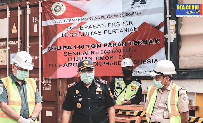 Bea Cukai Tanjung Perak Fasilitasi Ekspor Komoditas Pertanian Senilai Rp 266,6 M - JPNN.com