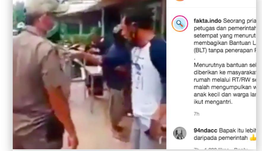 Viral! Pria Ini Mengamuk saat Satpol PP Bagi BLT, Alasannya Mencengangkan - JPNN.com