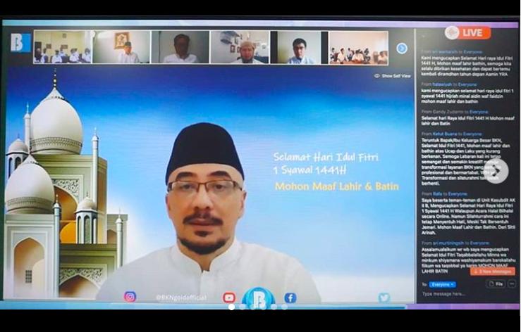 Seru, Halalbihalal Virtual Pegawai BKN dari Seluruh Indonesia - JPNN.com