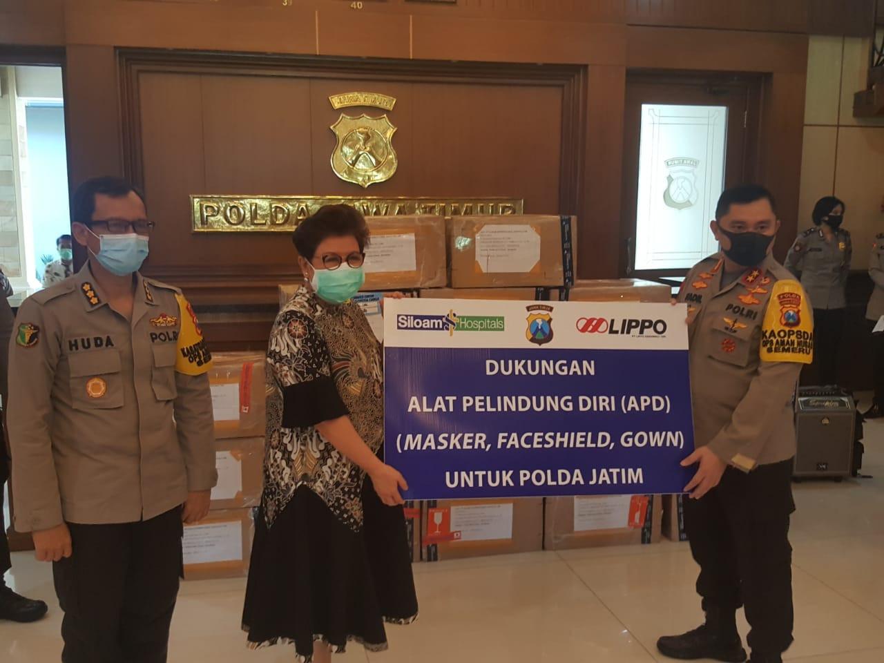 Lawan Corona, Lippo Karawaci Donasikan APD Ke Polda Jatim - JPNN.com