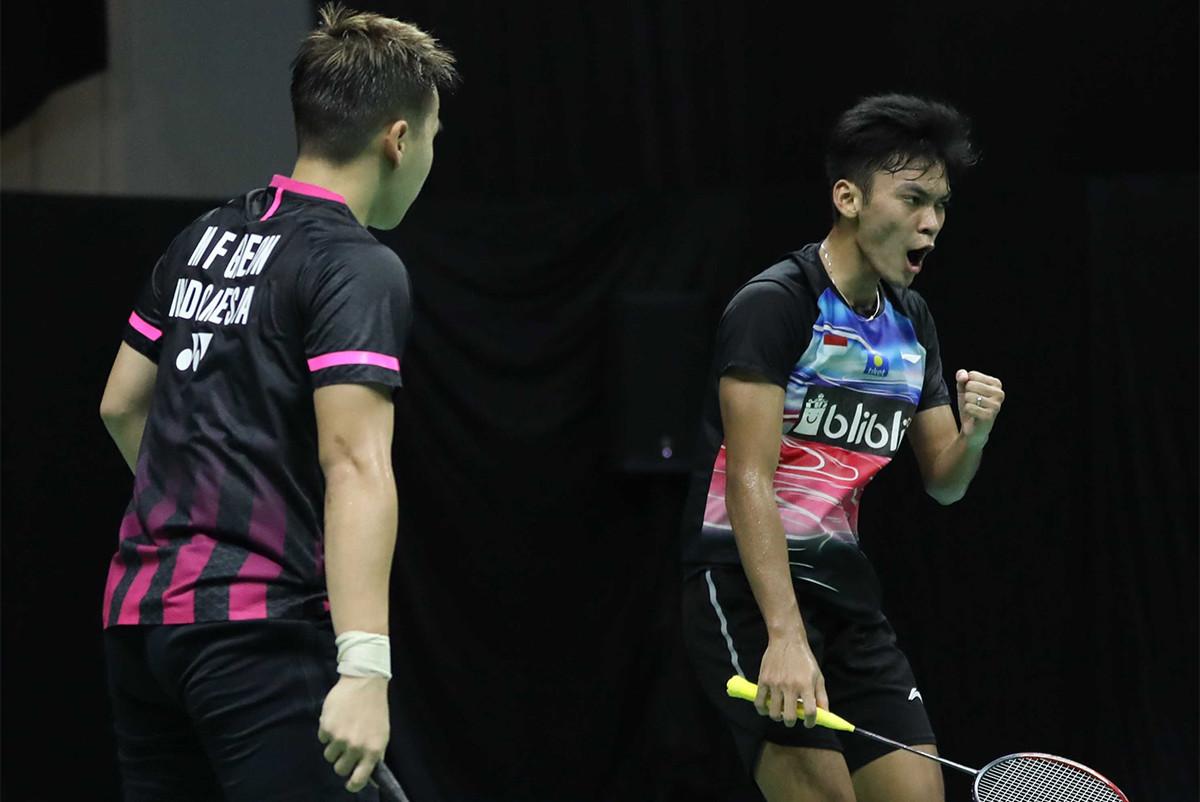 Sempat Tegang, Marcus/Fikri Taklukkan Ahsan/Leo di Turnamen PBSI - JPNN.com