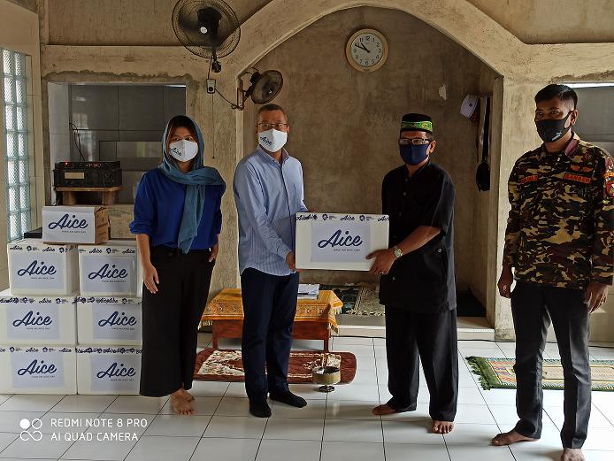 Lanjutkan Misi Kemanusiaan, Aice Group dan GP Ansor Bagikan Ratusan APD & Sembako - JPNN.com