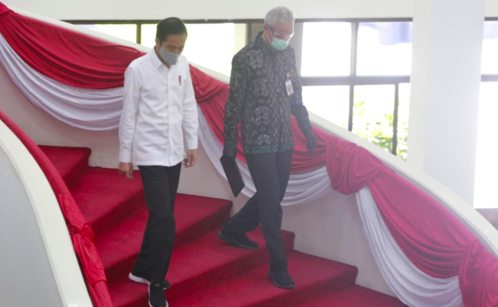 Ganjar Beri Penjelasan Lengkap pada Presiden Jokowi soal Covid-19 di Jateng - JPNN.com