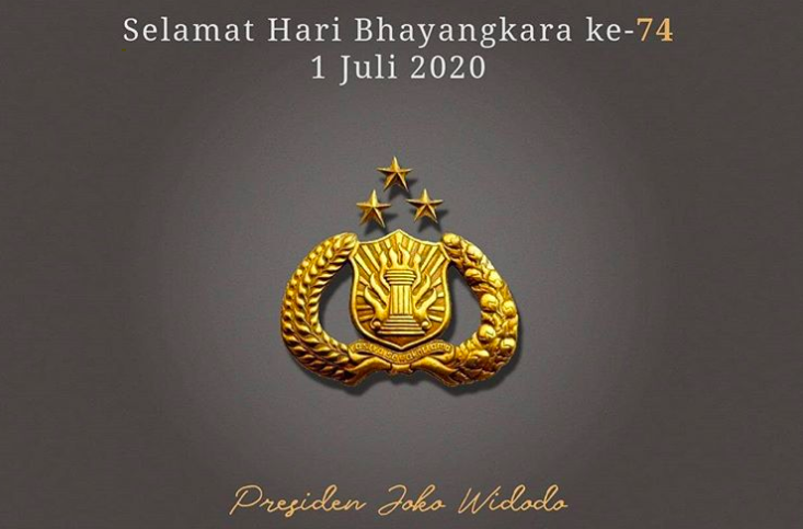 HUT ke-74 Bhayangkara, Jokowi: Semoga Seluruh Personel Polri dan Keluarga Diberi Kesehatan - JPNN.com