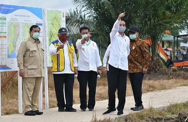 Mentan SYL Dampingi Presiden Jokowi Saat Tinjau Food Estate di Kapuas - JPNN.com