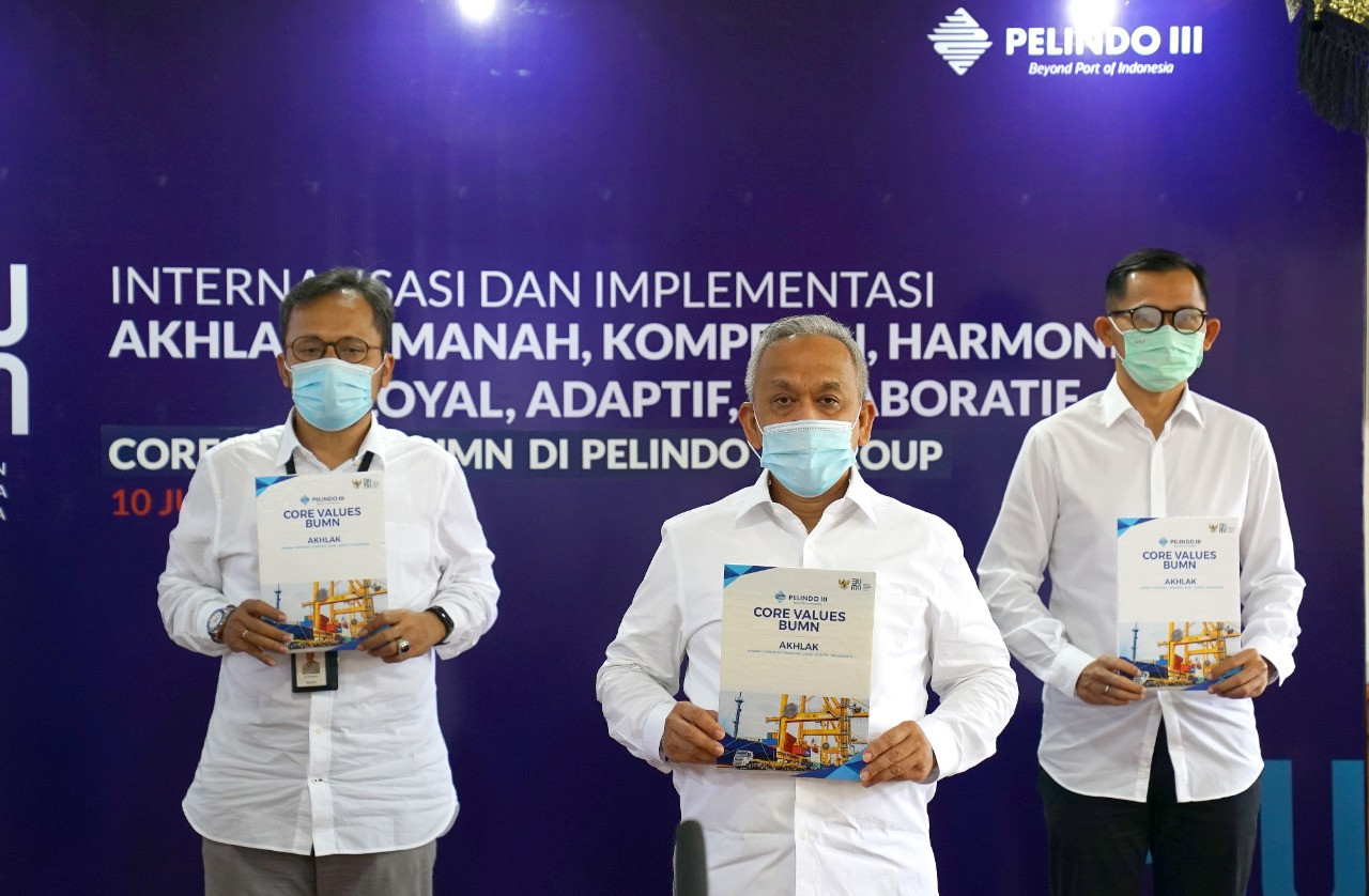 Gelar Internalisasi AKHLAK BUMN, Pelindo III Cetak Rekor MURI - JPNN.com