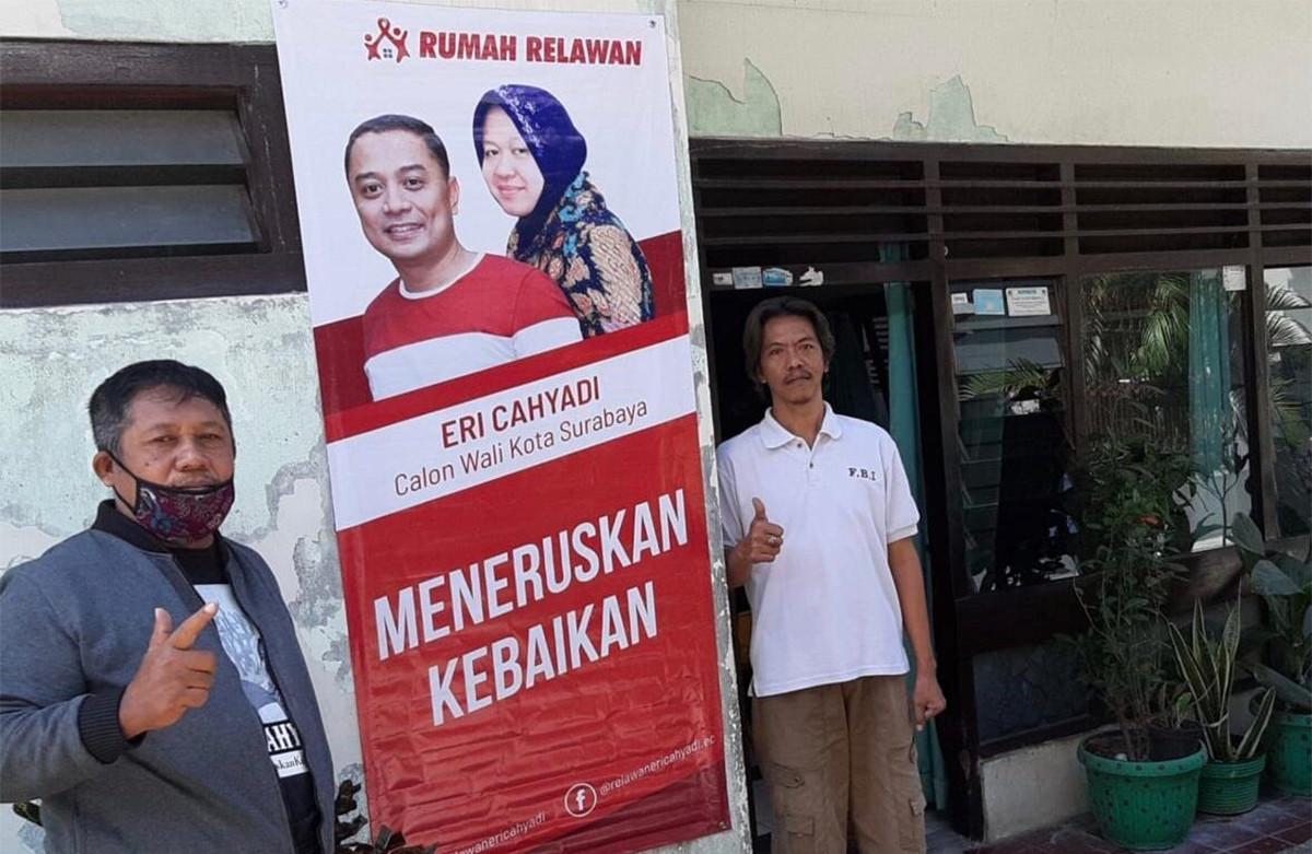Ribuan Relawan Eri Cahyadi Pasang Spanduk Dukungan di Depan Rumah - JPNN.com