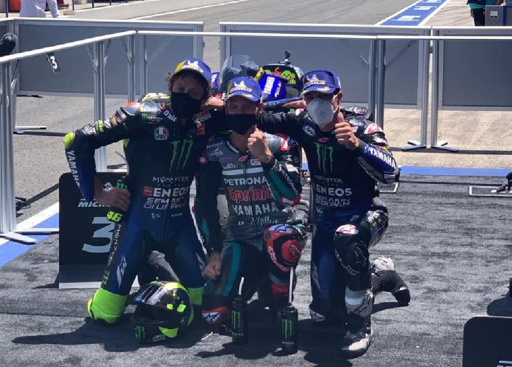Hasil MotoGP Andalusia: Yamaha Sapu Bersih, Rossi Tegakkan Kepala - JPNN.com