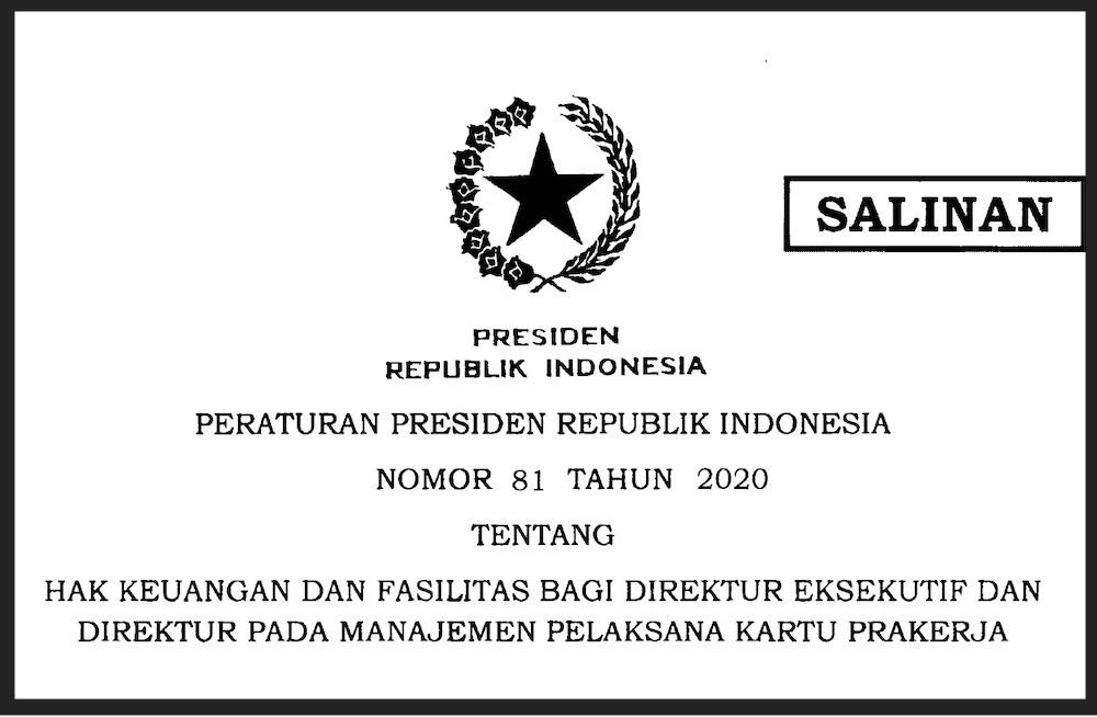 Pak Jokowi Teken Perpres, Sebegini Gaji Para Direktur Manajemen Pelaksana Kartu Prakerja - JPNN.com