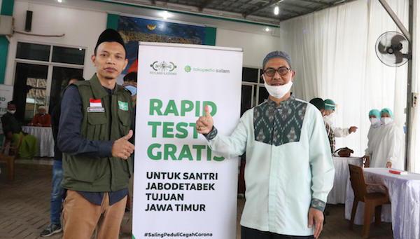 Tokopedia Gandeng NU CARE Gelar Rapid Test Untuk Santri dari Jabodetabek - JPNN.com