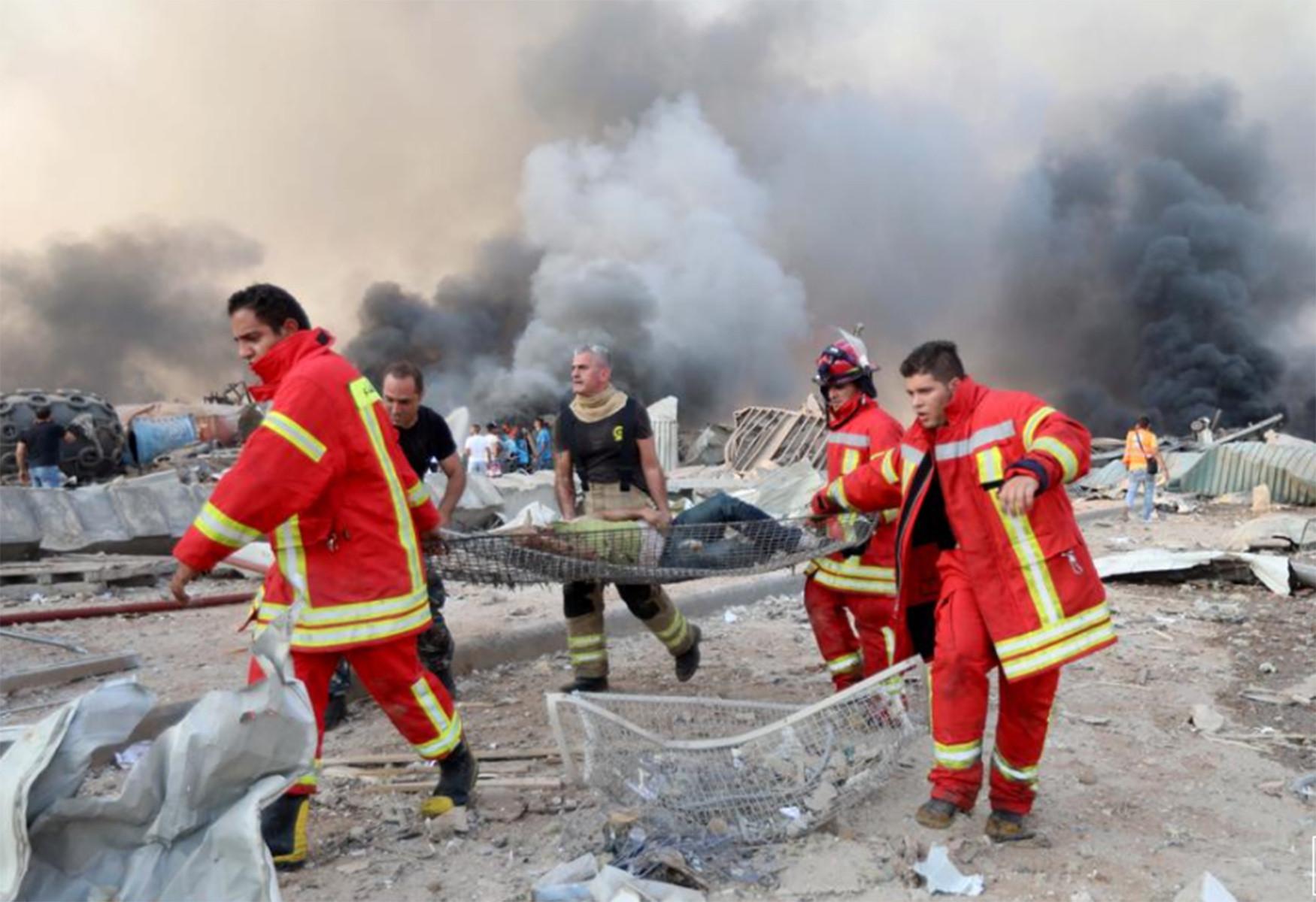 Lihat Betapa Dahsyatnya Ledakan di Lebanon, 78 Meninggal, 1 WNI jadi Korban - JPNN.com