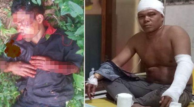 Dipicu Cinta Segitiga, Paman dan Keponakan Duel Pakai Celurit, Berdarah-darah - JPNN.com