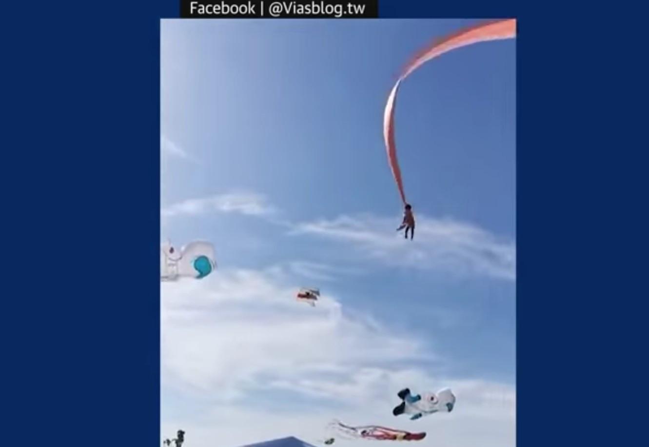 Terikat Ekor Layangan Raksasa, Gadis Kecil Terombang-ambing di Udara, Ngeri!! - JPNN.com