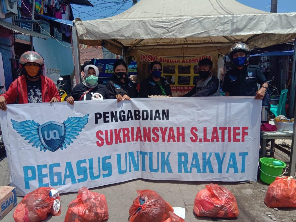 Pengurus Pegasus Bantu Korban Kebakaran di Maccini Kidul - JPNN.com