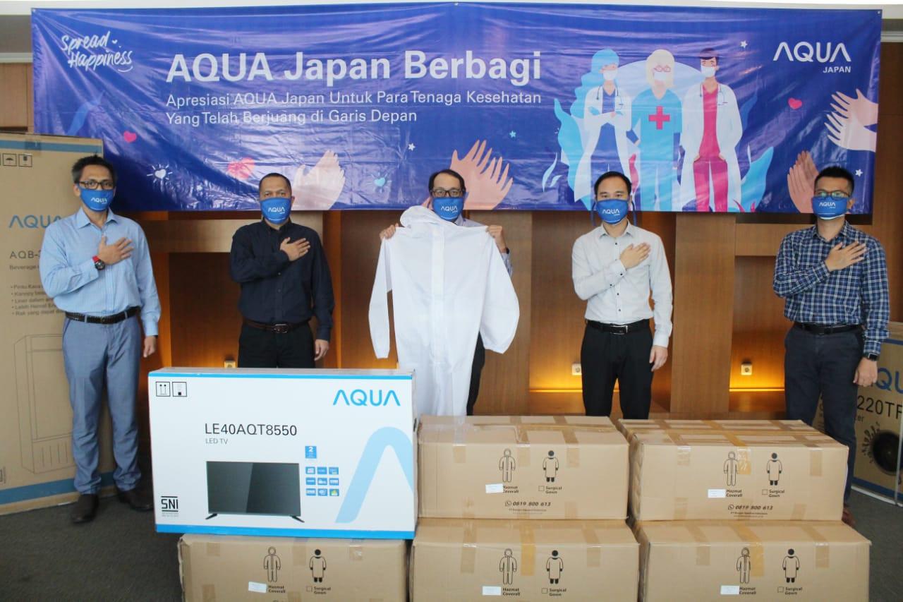 AQUA Japan Salurkan 1.356 unit APD dan Perangkat Elektronik untuk Petugas Kesehatan - JPNN.com