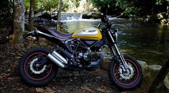 Sepeda Motor Mirip Ducati Scrambler Ini Dijual Murah, Sebegini Harganya - JPNN.com