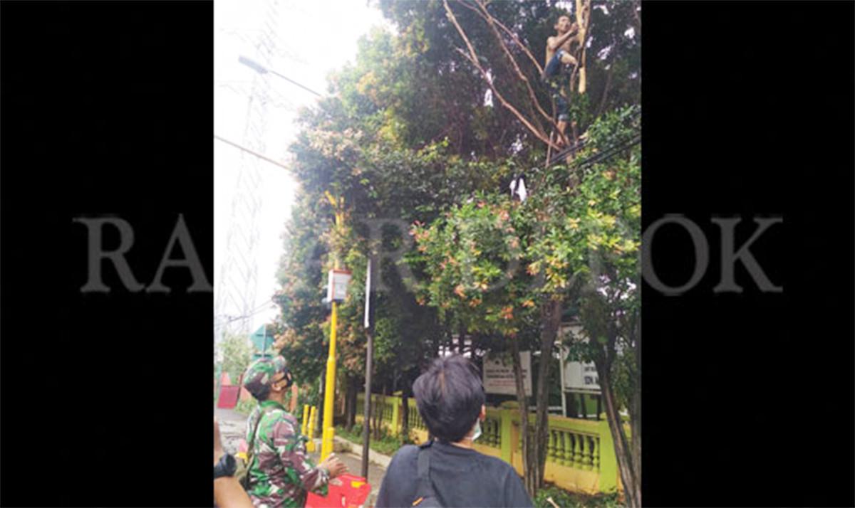 Seorang Pria di Depok Tiba-Tiba Memanjat Pohon, Lalu Mengumandangkan Azan - JPNN.com