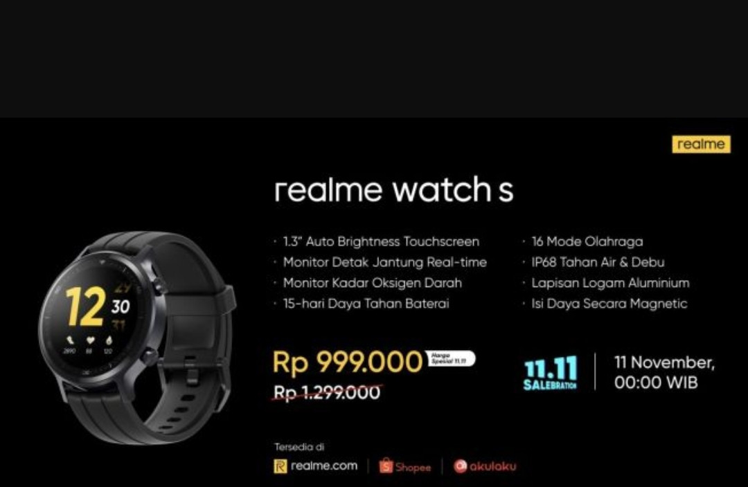 Check out the update on Realme Watch S, There is a Special Price for Salebration 11.11 – World Today News