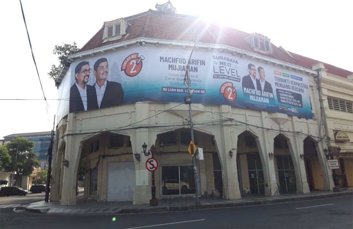 APK Machfud Arifin-Mujiaman di Cagar Budaya Tak Kantongi Izin TACB - JPNN.com