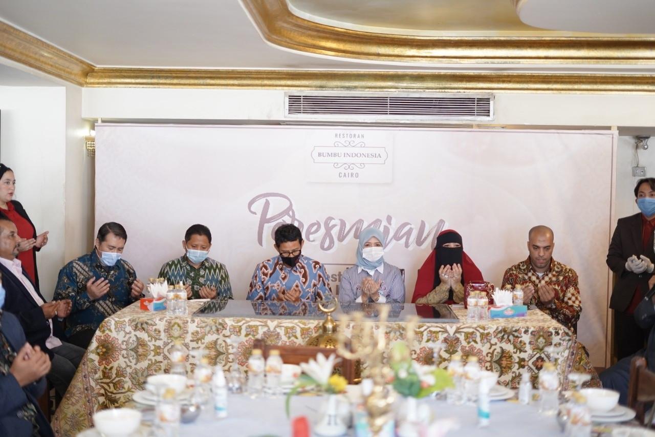 Sandiaga Uno Resmikan Restoran Indonesia Kelas Premium Pertama di Mesir - JPNN.com