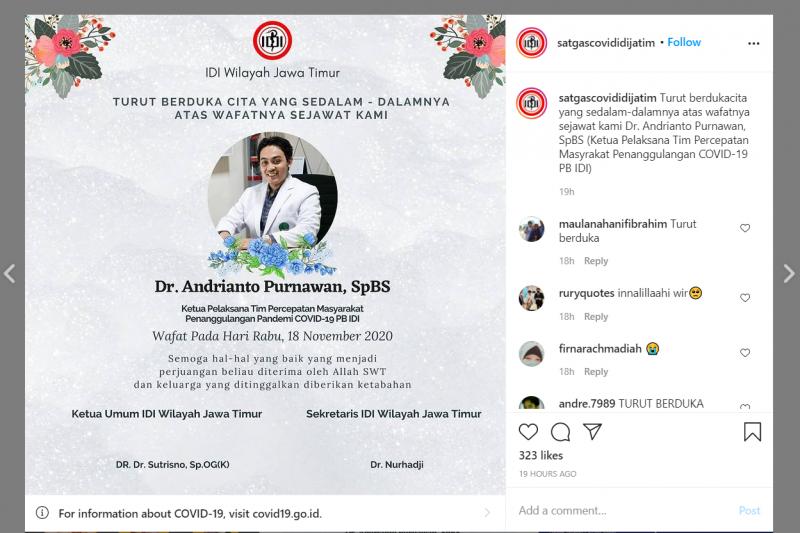 Kabar Duka: dr Andrianto Purnawan Meninggal Dunia, Kami Ikut Berbelasungkawa - JPNN.com