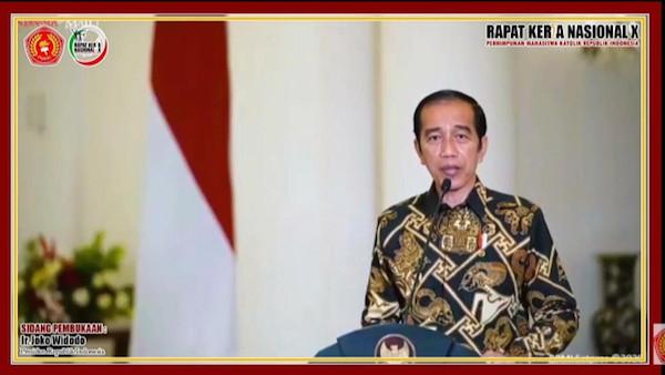 Buka Rakernas X PMKRI, Jokowi Ingatkan Pentingnya Persatuan dan Kesatuan Bangsa - JPNN.com