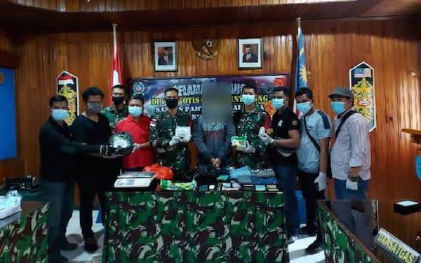 NM Tepergok Satgas TNI di Kebun Sawit, Tak Berkutik Lagi, Begini Penampakannya - JPNN.com