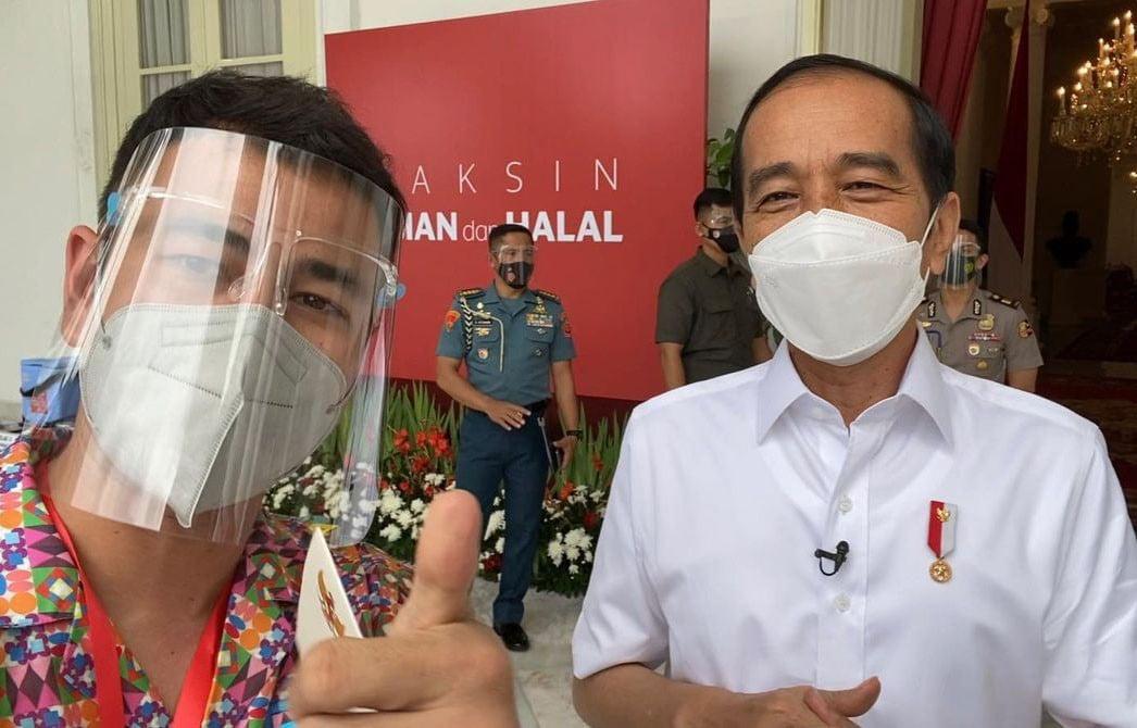 Imbauan Raffi Ahmad Usai Jalani Vaksin Covid-19 Bareng Jokowi - JPNN.com