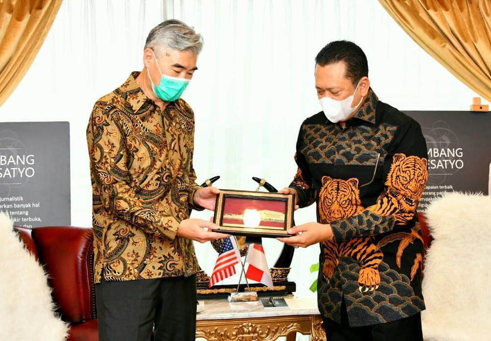 Terima Dubes AS untuk Indonesia, Ketua MPR Dorong Kerja Sama Pengadaan Vaksin Covid-19 - JPNN.com