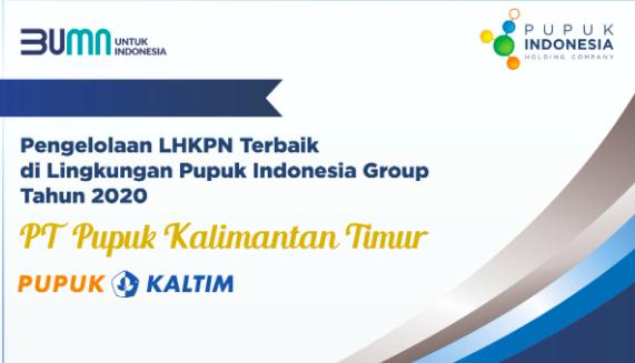 Pupuk Kaltim Capai Laporan LHKPN Terbaik dan Tercepat, Pupuk Indonesia Beri Apresiasi - JPNN.com