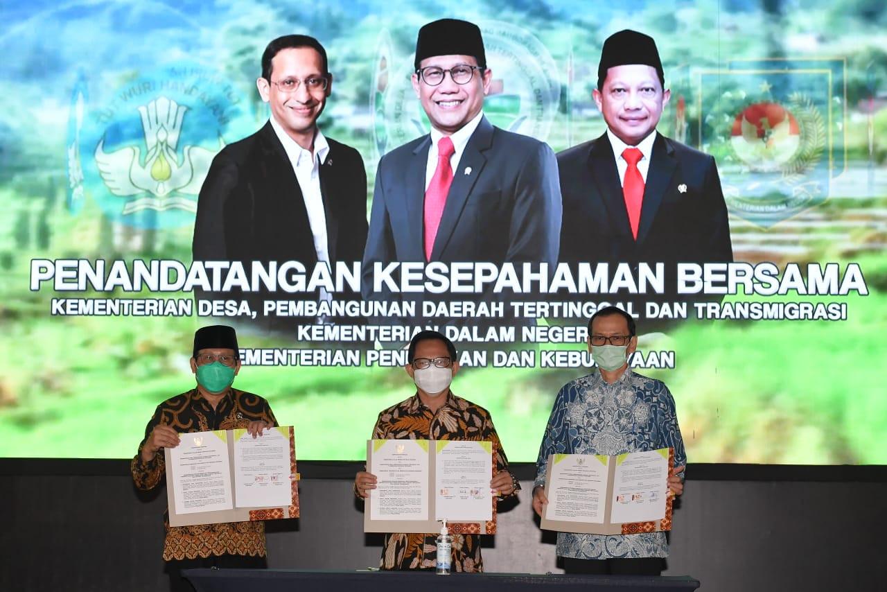 Gus Menteri, Mendagri Tito, dan Mendikbud Nadiem Sepakati Progam Peningkatan SDM Desa - JPNN.com
