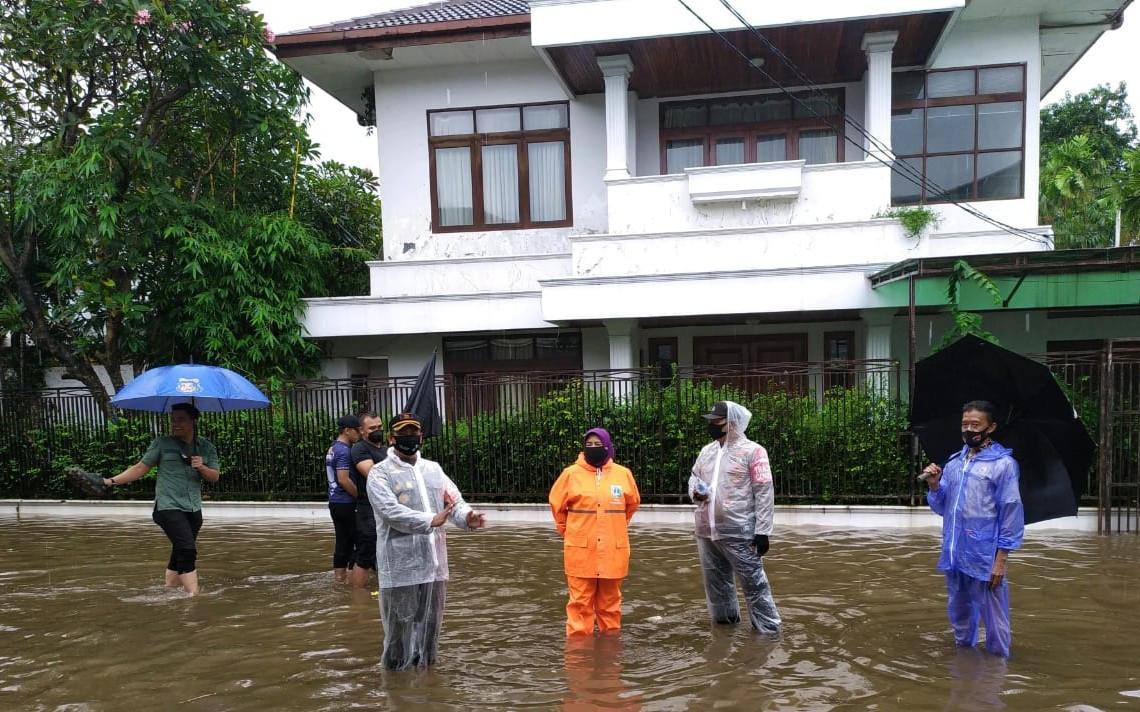 Hujan Deras, Rumah Kapolri Jenderal Listyo Kebanjiran - JPNN.com