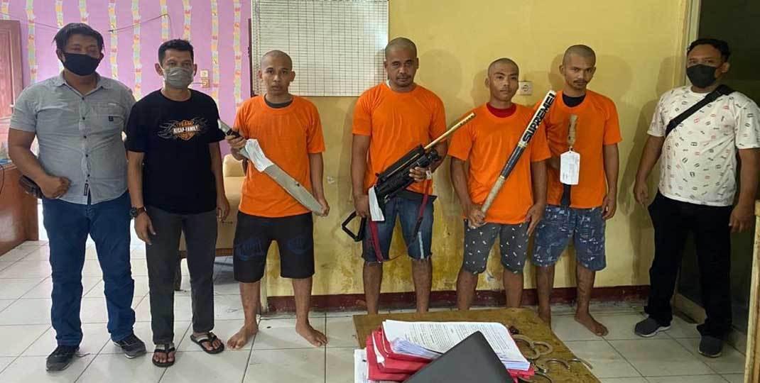 4 Pembunuh Jimmi Ginting Ditangkap, Lihat Tuh Gayanya - JPNN.com