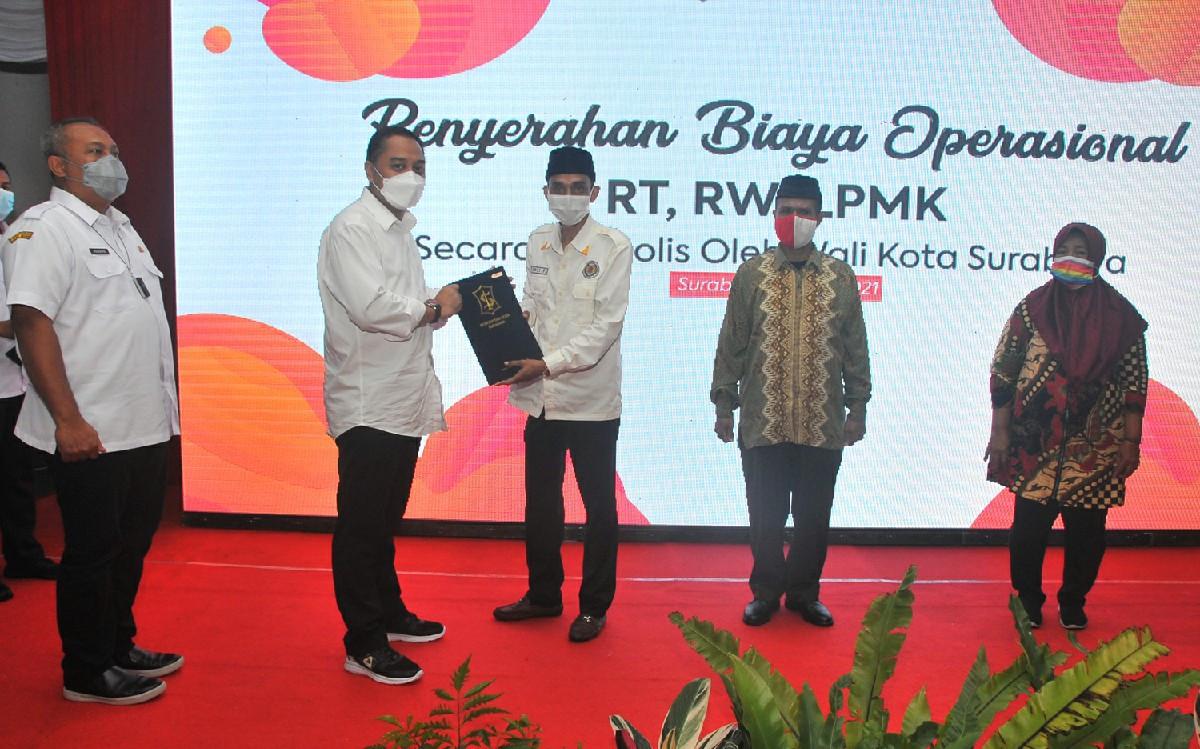 Horeee, Wali Kota Surabaya Naikkan Biaya Operasional RT, RW, dan LPMK 100% - JPNN.com