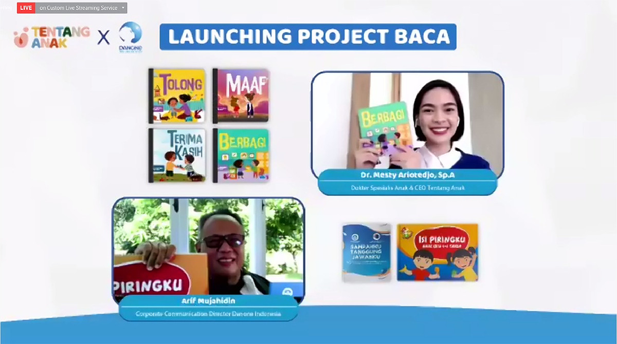 Danone dan Tentang Anak Luncurkan Program BACA - JPNN.com