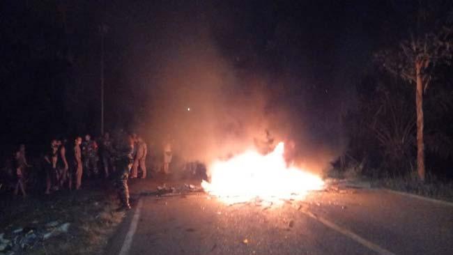 Tolak Larangan Pesta Malam, Warga Karang Anyar Blokir Jalan Lintas Sumatera, Begini Jadinya - JPNN.com