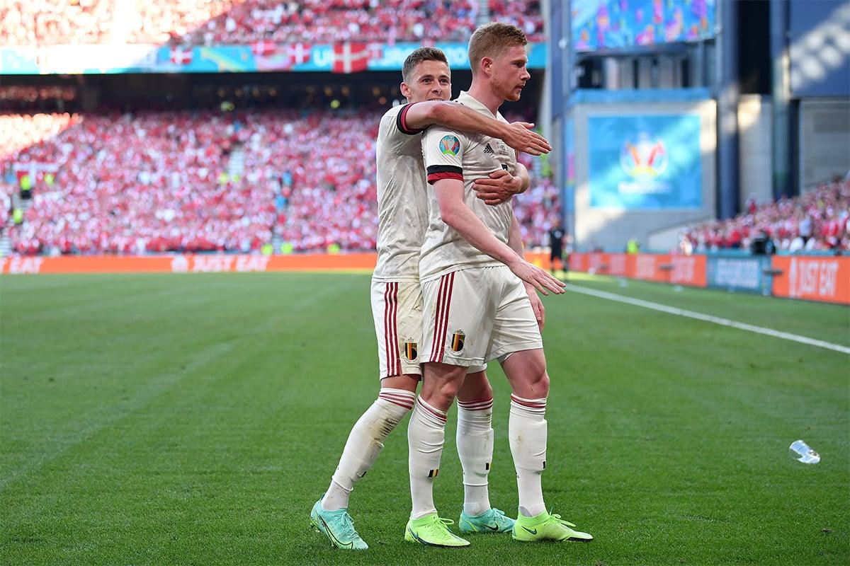 Berkat Duo Hazard dan Kevin De Bruyne Belgia Tembus 16 Besar